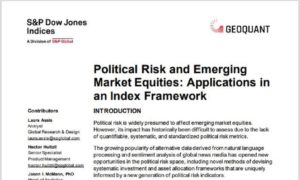 Political Risk and Emerging Market Equities: Applications in an Index Framework
